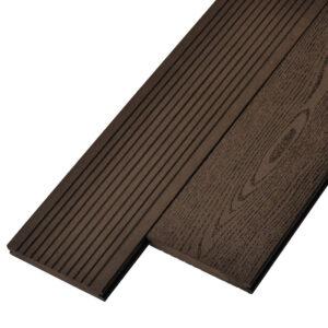 Террасная доска ДПК, декинг, палубная доска Deckson Monolit 140х20 мм цвет венге
